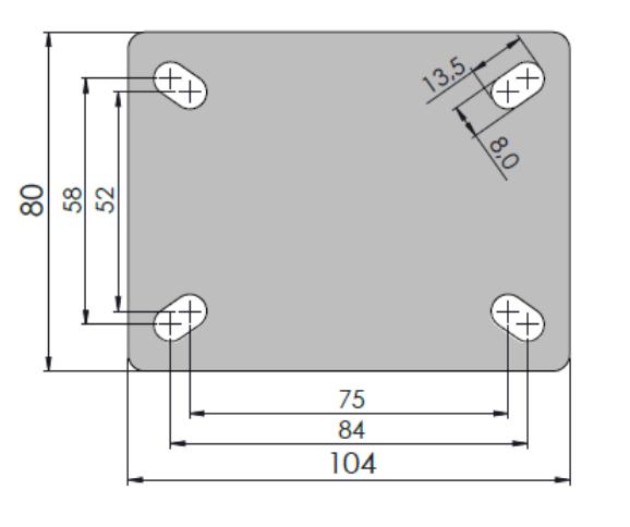 Rodízio Performa 3''X1.1/4 Placa Fixa Sem Freio Sem Esfera COLSON FLP.312.PER.N