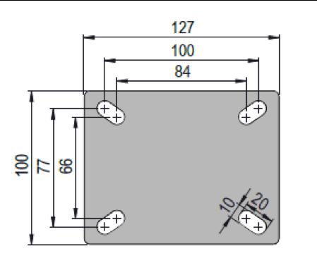 Rodízio De Poliuretano 6''X2'' Placa Fixa Sem Freio Com Esferas COLSON FCS.62.PF.EA