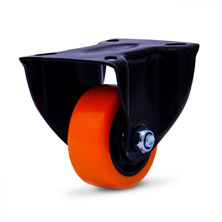 """Rodízio Poliuretano Preto 3""""X1.1/4 Placa Fixa Sem Freio Com  Esfera COLSON FLPB.312.BPA.E"""