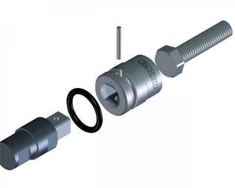 Chave Soquete Allen De Impacto 8mm Encaixe 1/2 GEDORE 016.253