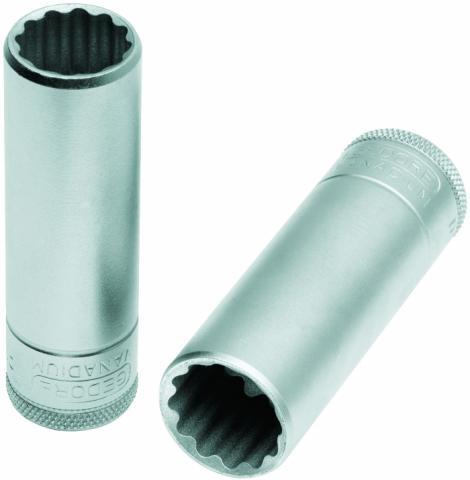 Soquete Estriado Longo 12mm Encaixe 1/2 GEDORE 015.706