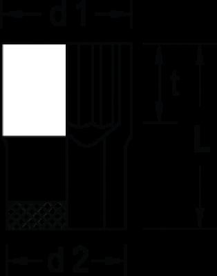 Soquete Estriado 60mm Encaixe 1'' GEDORE 018.006