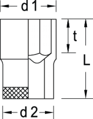 Soquete Sextavado 22mm Encaixe 1/2 GEDORE 015.017