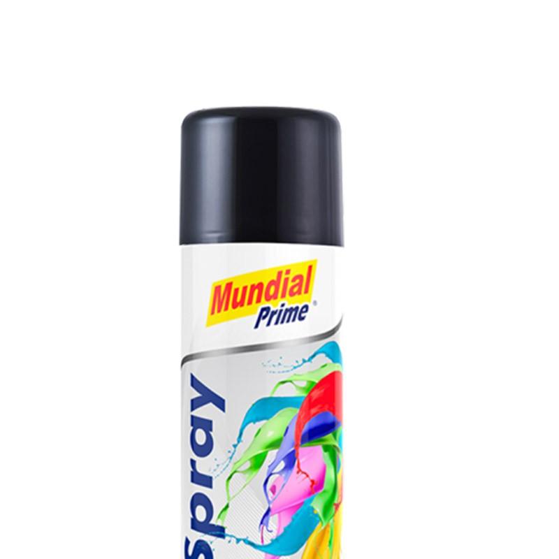 Tinta Spray 400ml Ug Preto Brilhante Mundial Prime