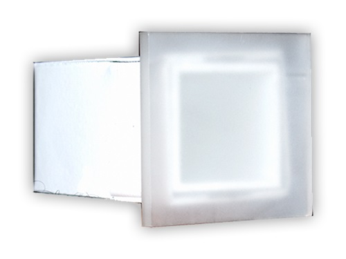 Balizador de Embutir LED 0,5W 127V ou 220V 3000K Quadrado Squadro One LA-215 Led Art
