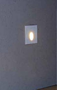 Balizador de Embutir LED 1W Bivolt Quadrado Ion LA-205 Led Art