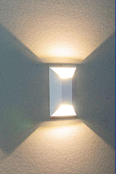 Balizador de Embutir LED 2W Bivolt Retangular Onix Duplo LA-209 Led Art
