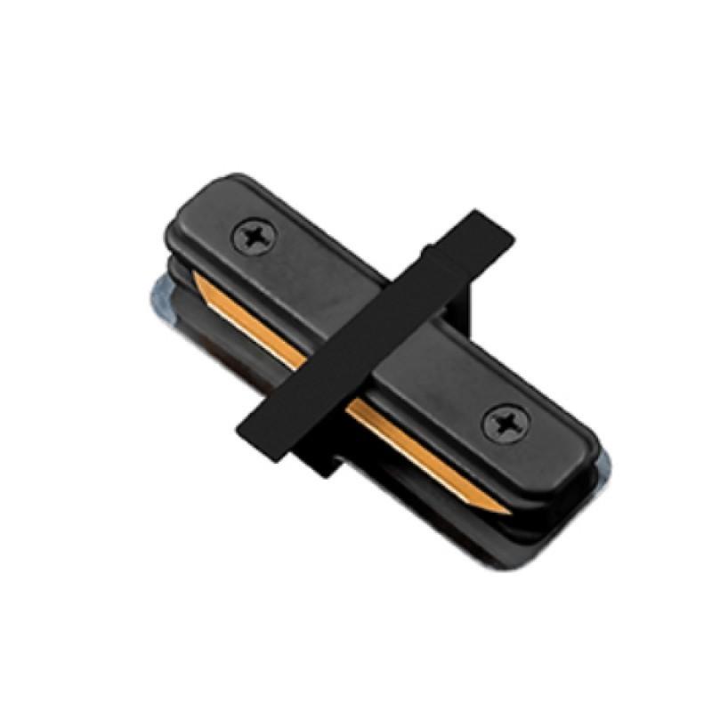 Conector I Para Trilho de Embutir Energizado Preto SD1205PTO - Stella Design