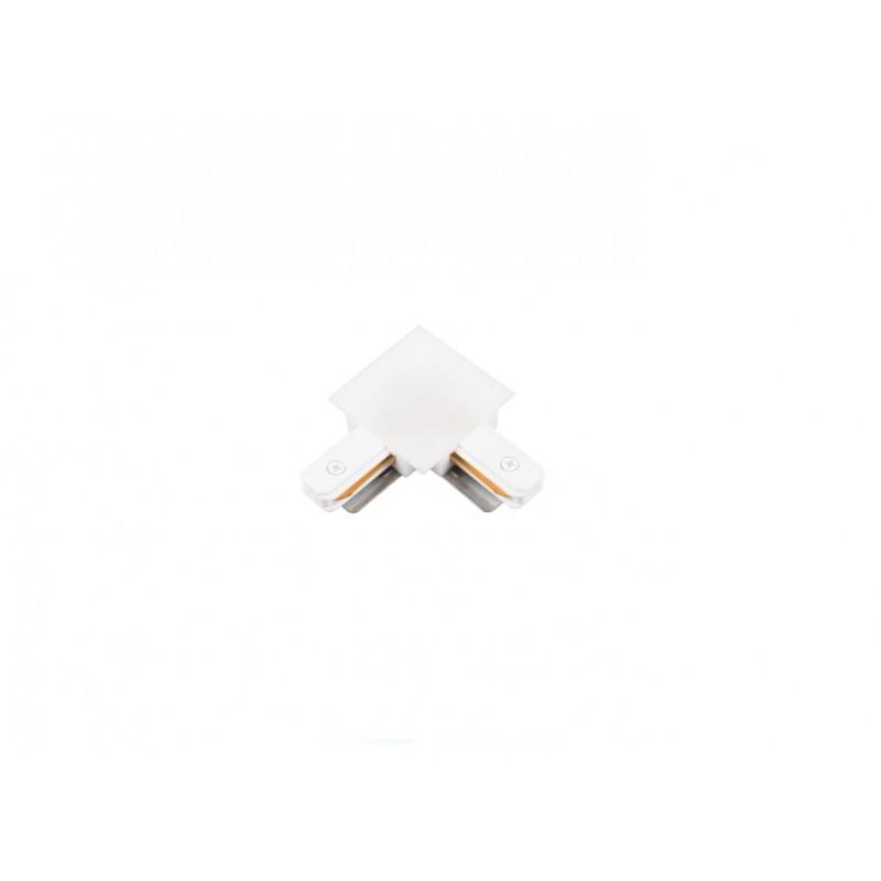 Conector L Para Trilho de Embutir Energizado Branco SD1206BR - Stella Design
