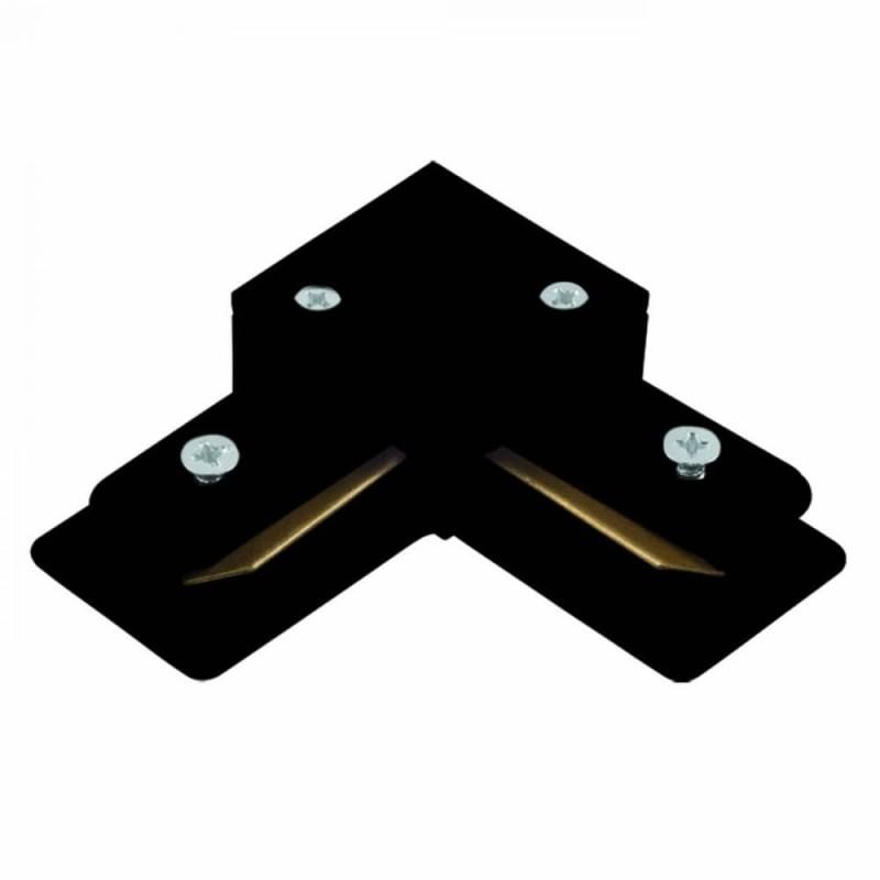 Conector L Para Trilho de Sobrepor Energizado Preto SD1044PTO - Stella Design