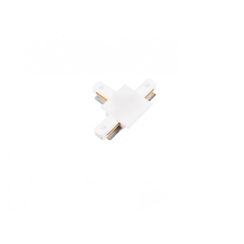 Conector T Para Trilho de Embutir Energizado Branco SD1207BR - Stella Design