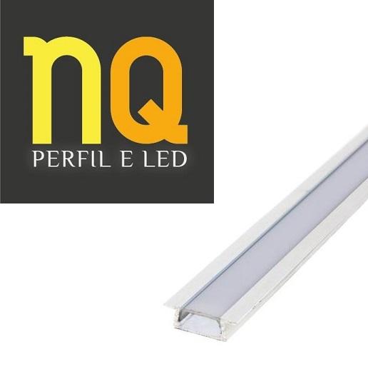 PERFIL DE EMBUTIR ULTRA SLIM RENTE COM DIFUSOR 23x07x2000 mm NQ2307E-2M NQ PERFIL E LED