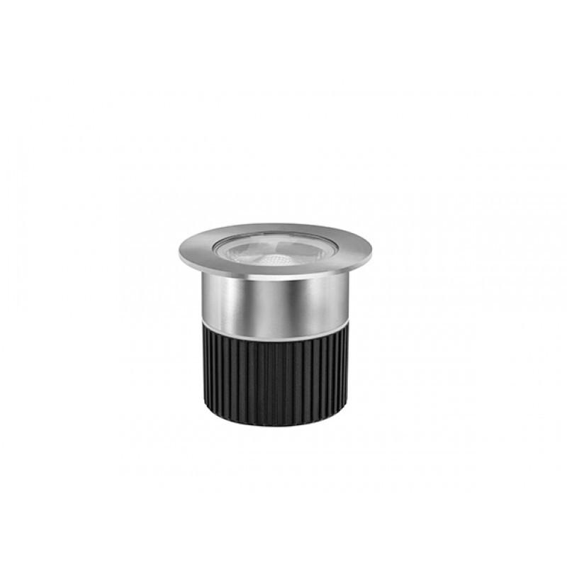 Embutido de Solo Focco Inox LED 5W IP67 3000K 30° Bivolt STH8706/30 - Stella Design