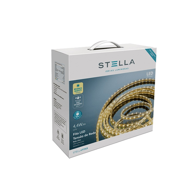 Fita de LED 10W/m 3000K 220V IP67 25mts STH7832/30 - Stella Design