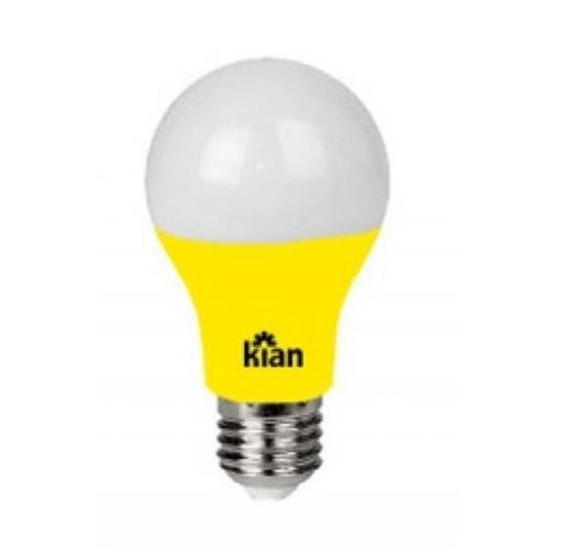 Lâmpada LED A60 Amarela 7W E-27 Bivolt 10659  Kian