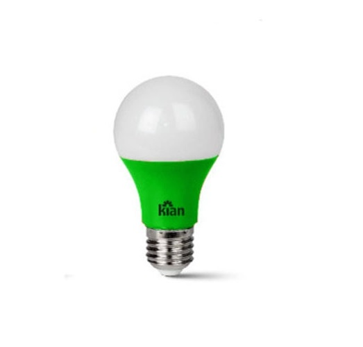Lâmpada LED A60 Verde 7W E-27 Bivolt 10657  Kian