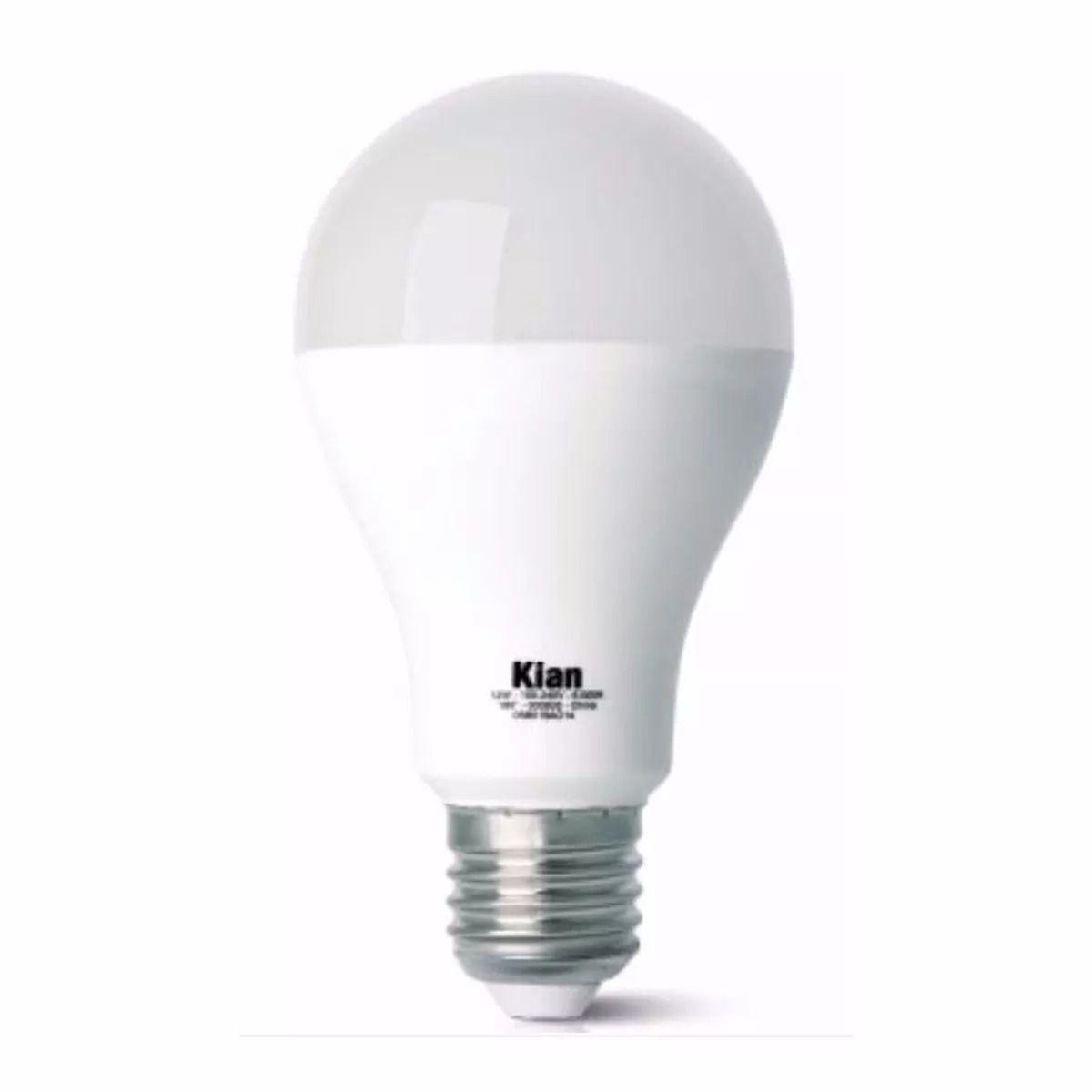 Lâmpada LED Bulbo 12W 6500K E-27 Bivolt 10060  Kian