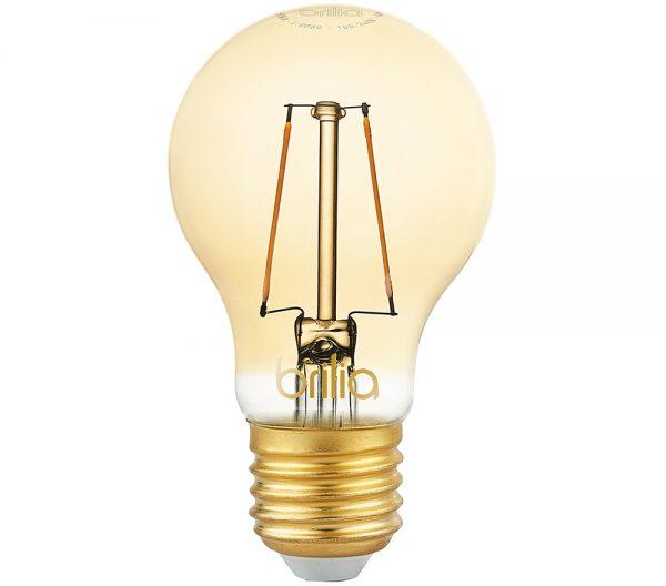 Lâmpada LED Bulbo Filamento Vintage 2,5W 2000K E-27 Bivolt 438572 Brilia