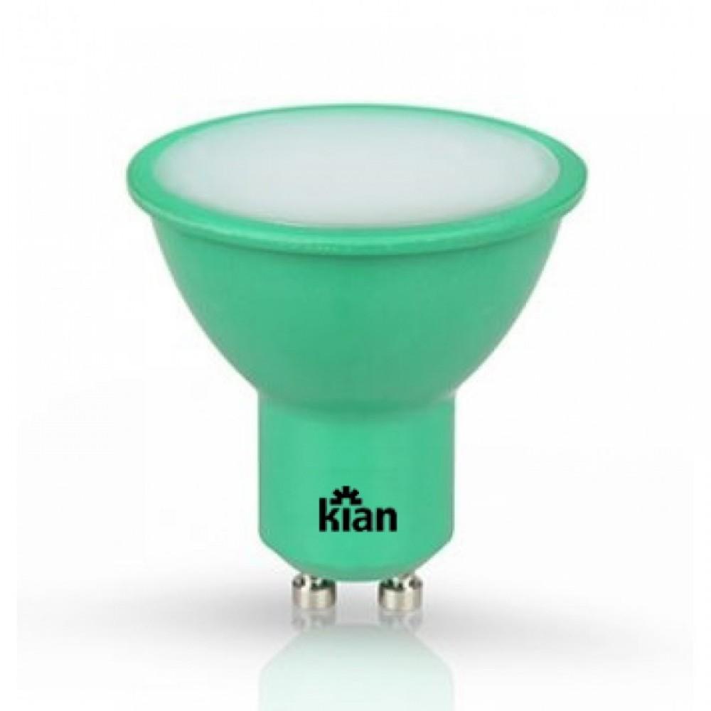 Lâmpada LED Dicróica Verde 4W GU10 Bivolt 10652  Kian