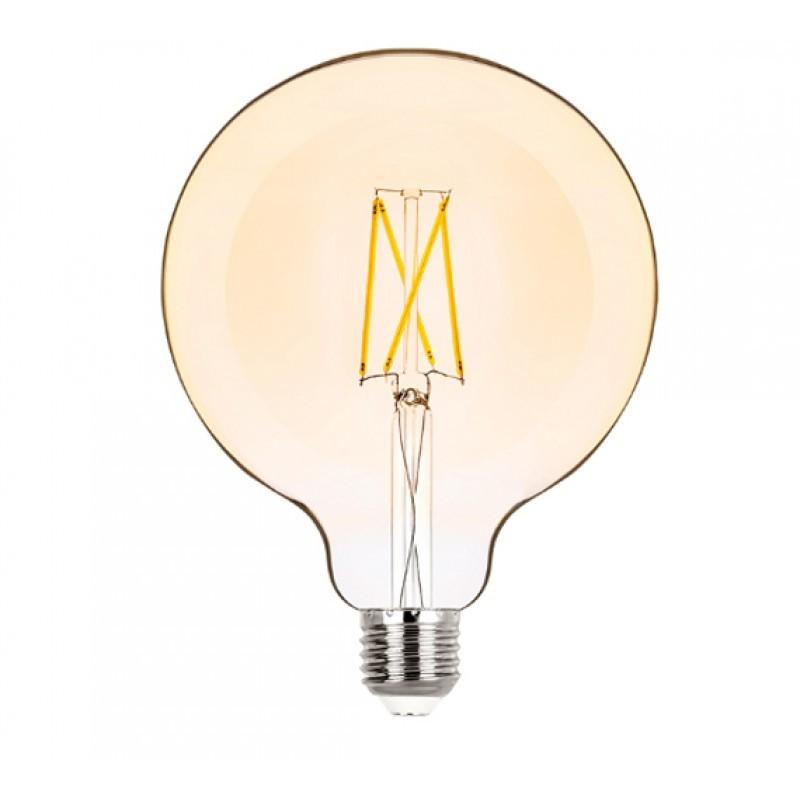 Lâmpada LED G125 Filamento 2W Âmbar E-27 Bivolt STH6337/24 - Stella Design
