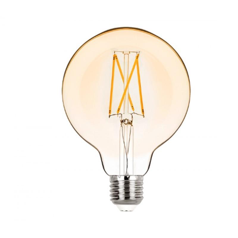Lâmpada LED G95 Filamento 2W Âmbar E-27 Bivolt STH6336/24 - Stella Design