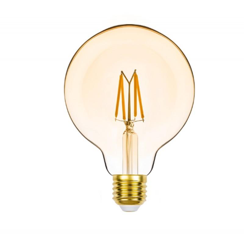 Lâmpada LED G95 Filamento 4,5W 2400K E-27 220V Dimerizável STH8282/24 - Stella Design