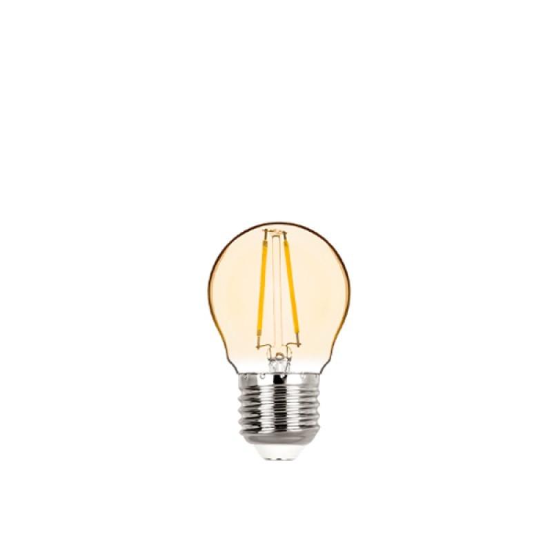 Lâmpada LED Mini Bulbo Filamento 2W Âmbar E-27 Bivolt STH6334/24 - Stella Design