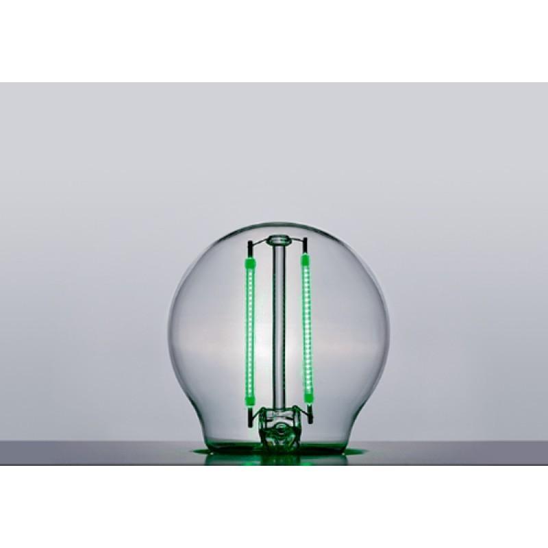 Lâmpada LED Mini Bulbo Filamento 2W Verde E-27 Bivolt STH6340/VD - Stella Design