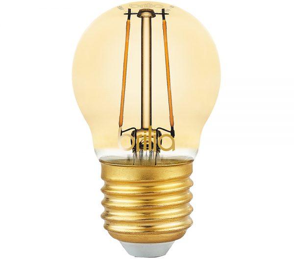 Lâmpada LED Mini Globo Filamento Vintage 2,5W 2000K E-27 Bivolt 438565 Brilia