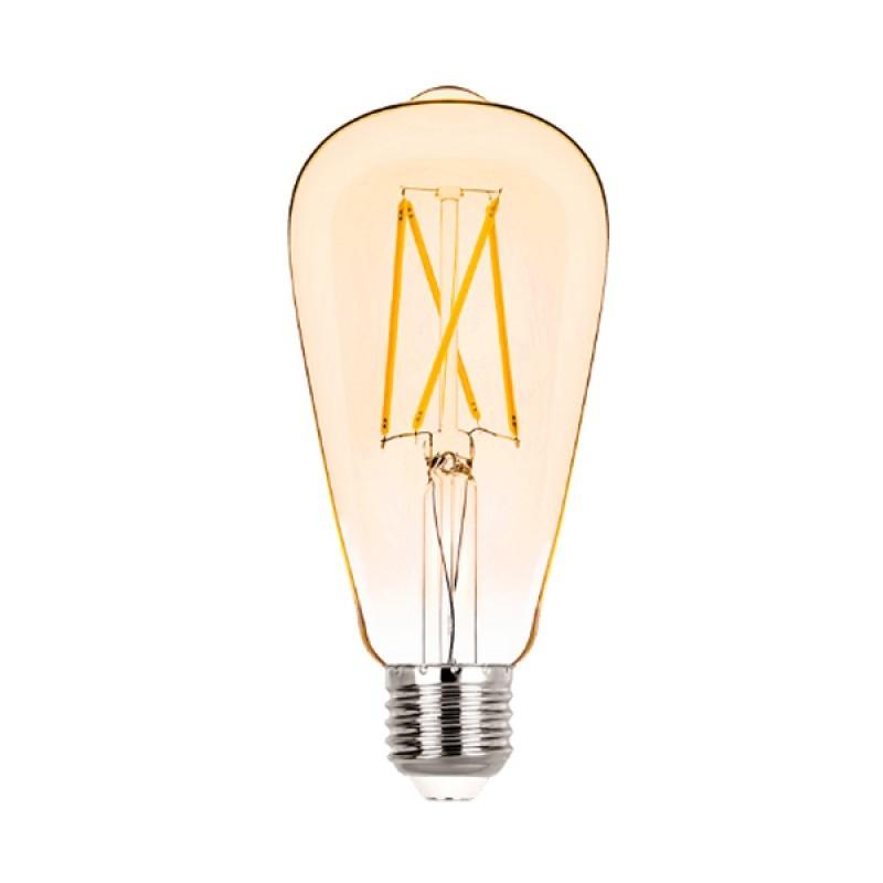Lâmpada LED ST64 Filamento 2W Âmbar E-27 Bivolt STH6338/24 Stella Design