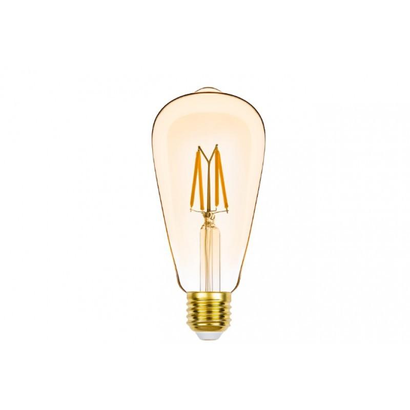 Lâmpada LED ST64 Filamento 4,5W 2400K E-27 220V Dimerizável STH8272/24 Stella Design
