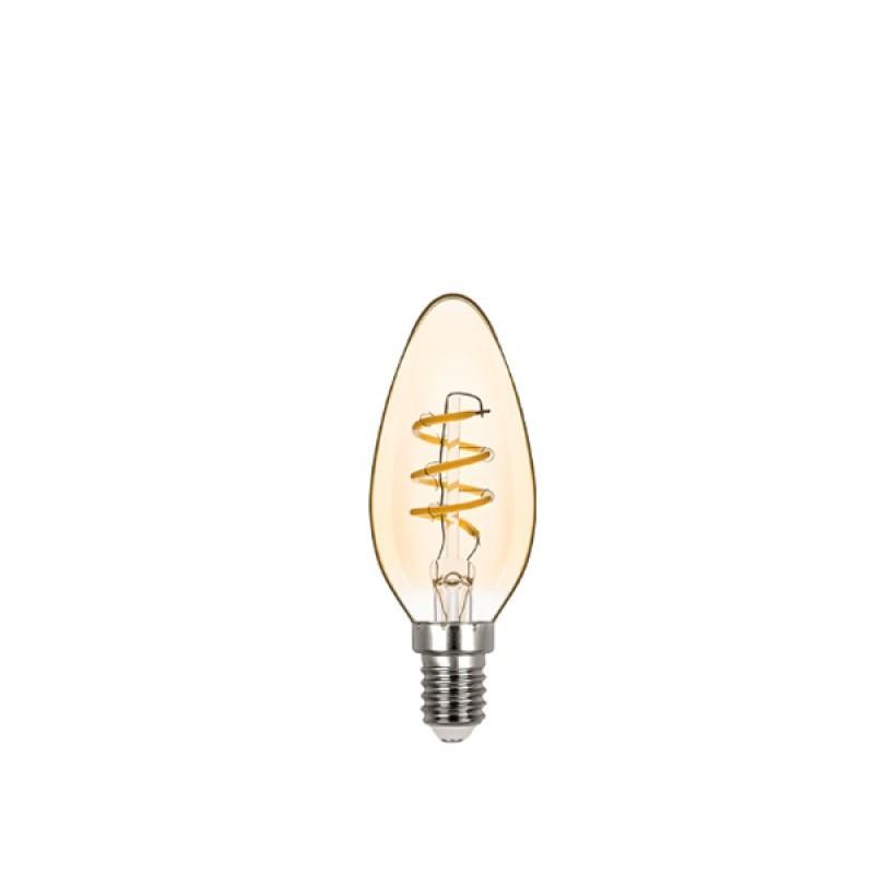 Lâmpada LED Vela Lisa Filamento 2,5W 2400K E-14 127V STH8381/24 Stella Design