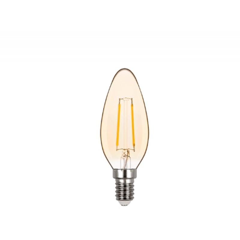 Lâmpada LED Vela Lisa Filamento 2W Âmbar E-14 127V STH6321/24 - Stella Design