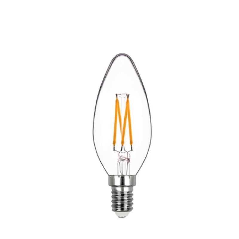 Lâmpada LED Vela Lisa Filamento 4W 2400K E-14 127V Dimerizável STH8361/24 - Stella Design