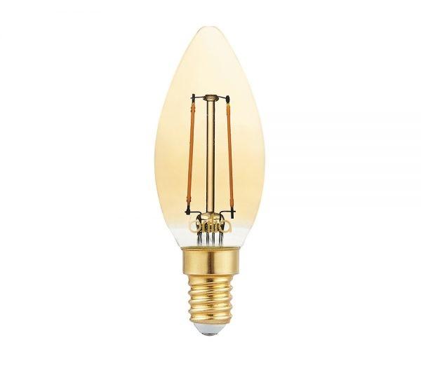 Lâmpada LED Vela Lisa Filamento Vintage 2,5W 2000K E-14 220V 438602 Brilia