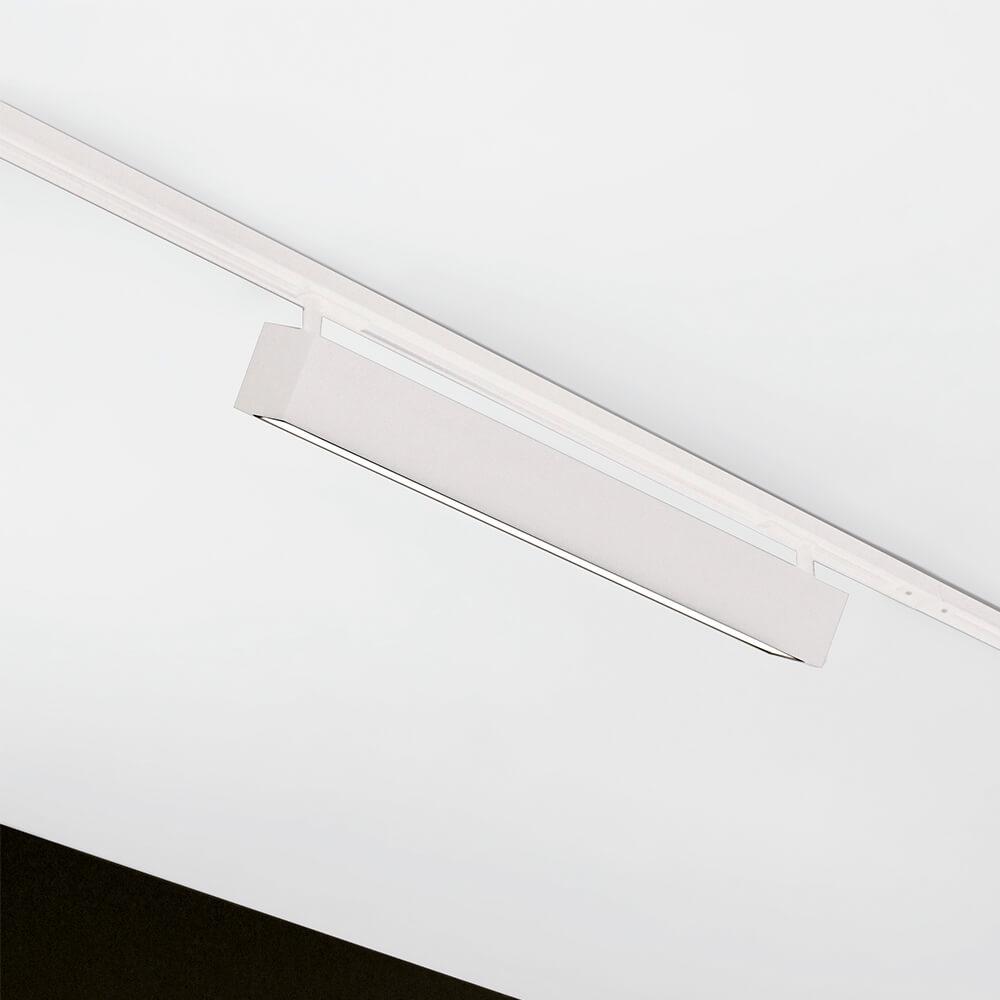 Luminária de Sobrepor Retangular C60cm P/ Trilho C/ Plug Branco LED 15W 3000K Bivolt 460ABLED3  Newline