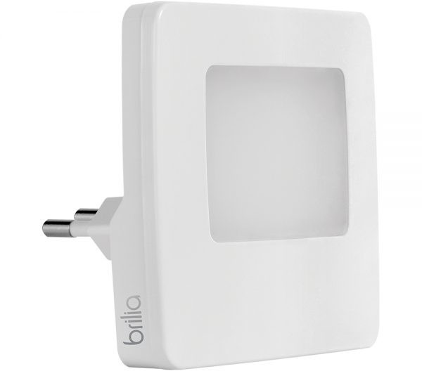 Luz Noturna Quadrado com Sensor de Luminosidade LED 0,5W 3000K Bivolt 432624 Brilia