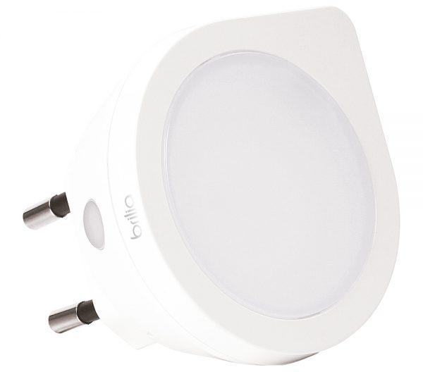 Luz Noturna Redondo com Sensor de Luminosidade LED 0,4W 6000K Bivolt 431412  Brilia