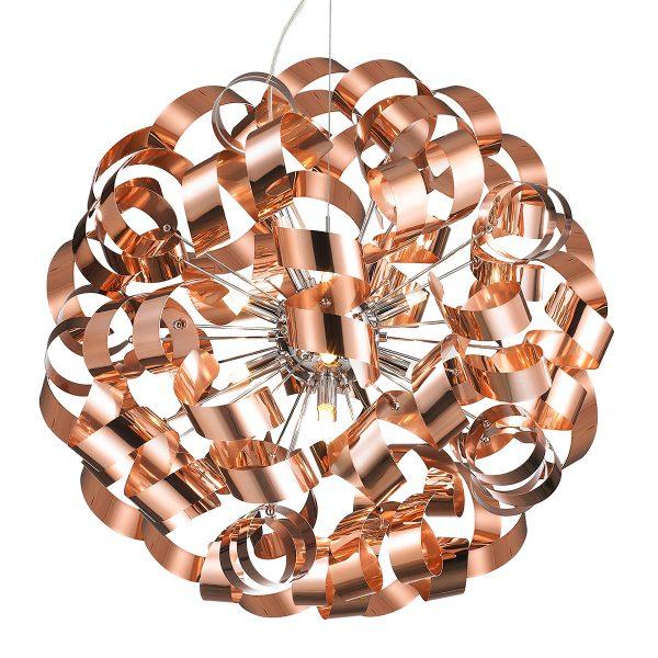 Pendente em Aço Bronze D60cm 12x G9 PE-033/12.60BRO  Mais Luz