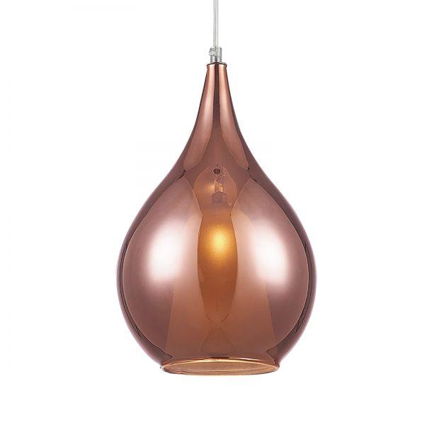Pendente em Aço Cromado e Vidro Ouro Rosé Ø20cm 1x G9 PE034/1.20OR  Itamonte