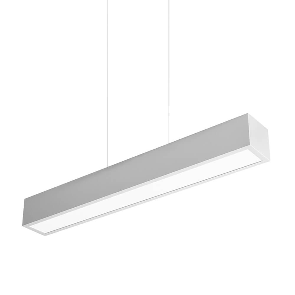 Pendente em Alumínio Sobrepor V C120cm LED 50W 4000K Bivolt 467LED4  Newline