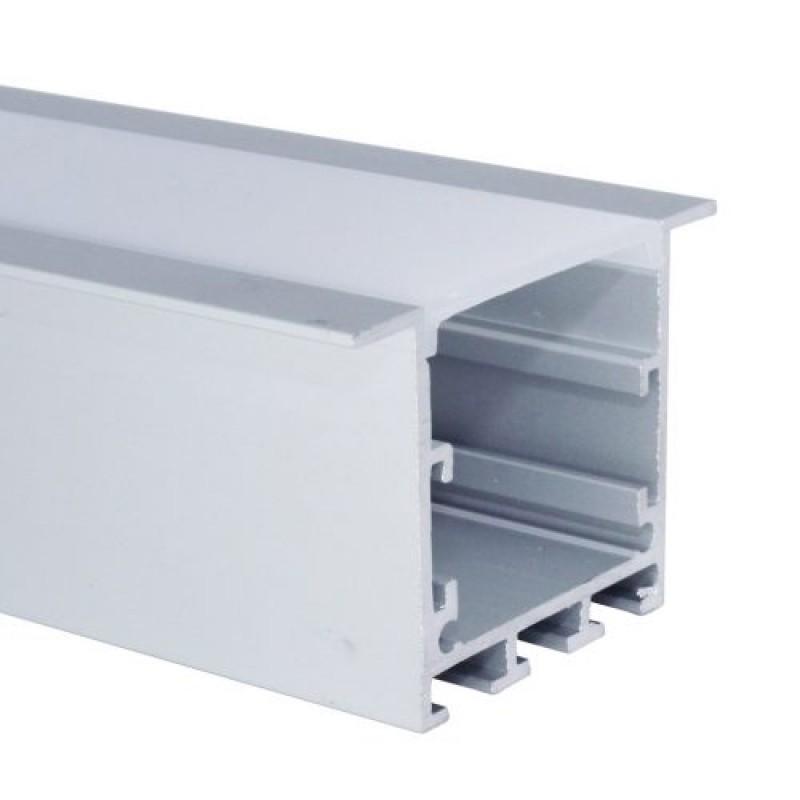 Perfil de Embutir 2 Metros P/ Fita LED C/ Difusor Leitoso EKPF51 - Eklart