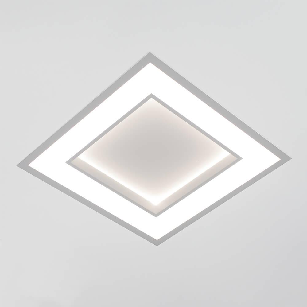 Plafon de Embutir Quadrado New Chess C37cm LED 30W 3000K Bivolt 501LED3  Newline