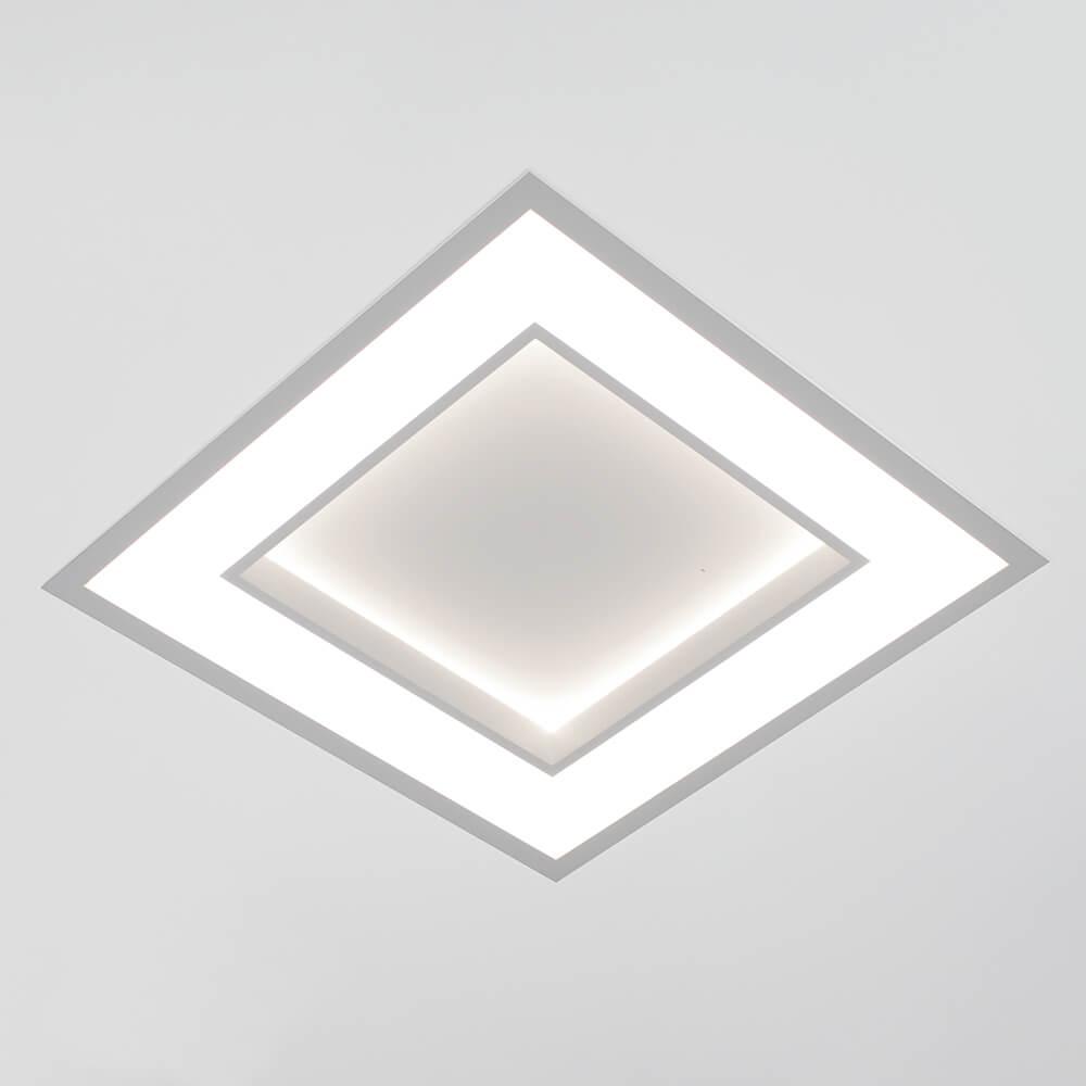 Plafon de Embutir Quadrado New Chess C49cm LED 40W 3000K Bivolt 502LED3  Newline