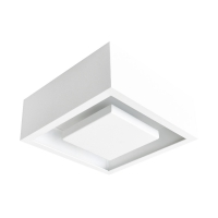 Plafon de Sobrepor Quadrado LED 12W Hide C22cm 3000K Bivolt DL081WW  Bella Iluminação