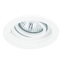 Spot de Embutir 1x Dicroica Redondo Recuado Móvel em Alumínio D 100mm NS7000B  Bella Iluminação