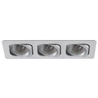 Spot de Embutir 3x Dicróica Retangular Direcionável em Alumínio C 255mm NS6003A  Bella Iluminação