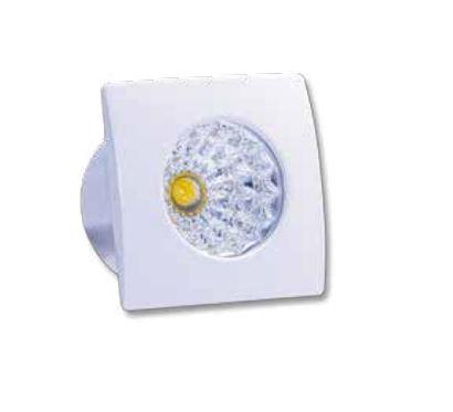 Spot de Embutir LED 1W  IP40 3000k Bivolt Quadrado Baby LA-306 Led Art