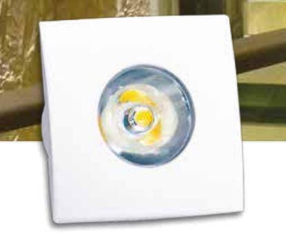 Spot de Embutir Mini Quadrado 10° LED 3W Bivolt  LA-31210 Led Art