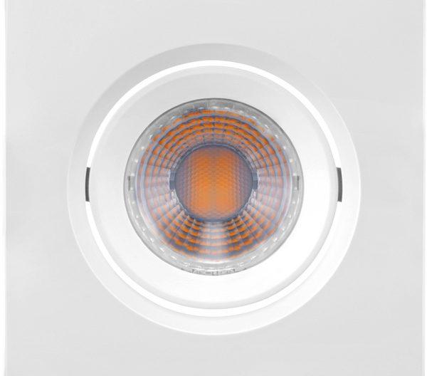 Spot de Embutir Quadrado Orientável LED MR11 3W 2700K Bivolt 435724 Brilia